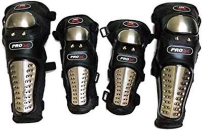 Sans Elbow Guard, Knee Guard M Black(Pack of 4)