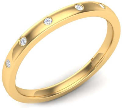 Kataria Jewellers The Agneta BIS Hallmarked Gold 14kt Diamond Yellow Gold ring at flipkart