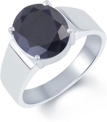 G-Luck Silver Sapphire Ring at flipkart