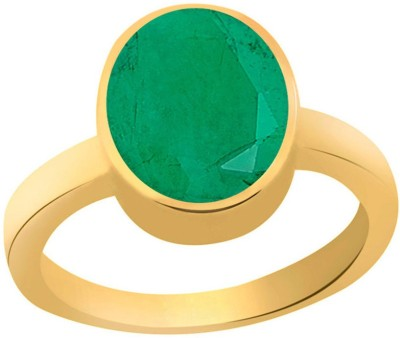 SMS Retail 6.25 Ratti Stone Emerald Copper Plated Ring at flipkart