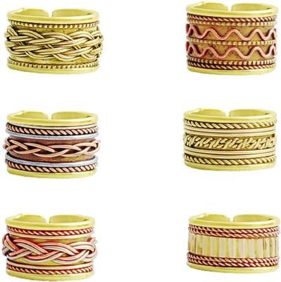 Kenway Retail Super Saver Pack Brass, Steel, Copper Brass Plated Ring Set at flipkart