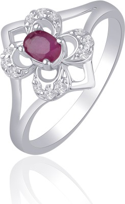 VK Jewels Alloy Cubic Zirconia Rhodium Plated Ring at flipkart
