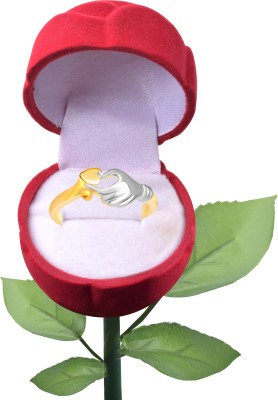 Vighnaharta Alloy 18K Yellow Gold Plated Ring at flipkart