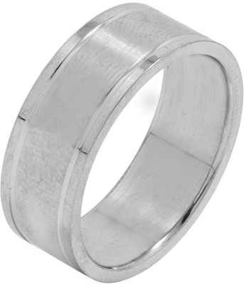 Voylla ArtificialClassic Plain Alloy Silver Plated Ring