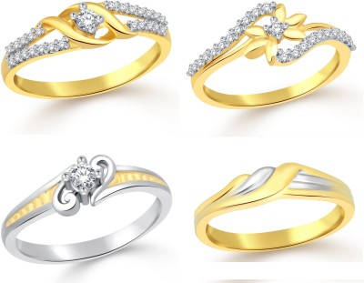 Classic Solitare Star Combo for Women Alloy Cubic Zirconia Yellow Gold, White Gold Plated Ring at flipkart