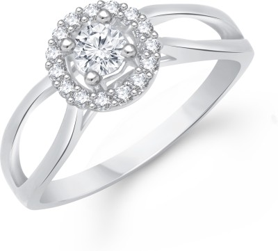 VK Jewels Fashion Finesse Alloy Cubic Zirconia Rhodium Plated Ring at flipkart