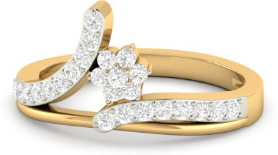 WearYourShine by PC Jewellers The Carleen 18kt Diamond Yellow Gold ring at flipkart