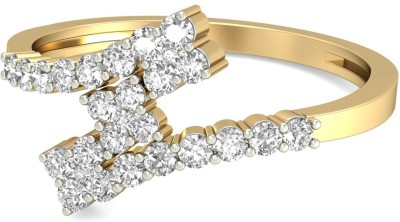 WearYourShine by PC Jewellers The Rosaire 18kt Diamond Yellow Gold ring at flipkart