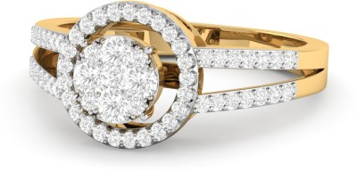 WearYourShine by PC Jewellers The Charmian 18kt Diamond Yellow Gold ring at flipkart