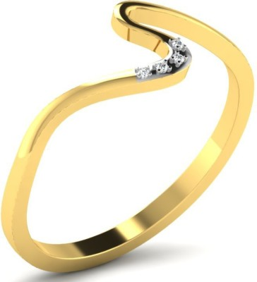 Sparkles 18kt Diamond Yellow Gold ring at flipkart