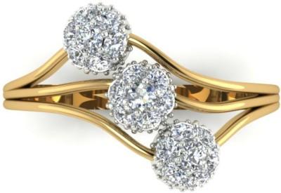 Astrum Diamonds Tiered blossoms 18kt Diamond Yellow Gold ring