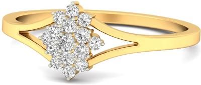 WearYourShine by PC Jewellers The Alainn 18kt Diamond Yellow Gold ring at flipkart
