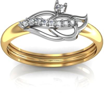 avsar Prerana 14kt Swarovski Crystal Yellow Gold ring avsar Rings