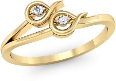 Kataria Jewellers The Galatee BIS Hallmarked Gold 14kt Diamond Yellow Gold ring