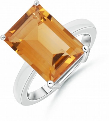 HCSLite 5.25 Ratti Stone Citrine Copper Plated Ring at flipkart