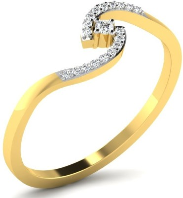 Fullcutdiamond FCDR7779R 18kt Diamond Yellow Gold ring(Yellow Gold Plated) at flipkart