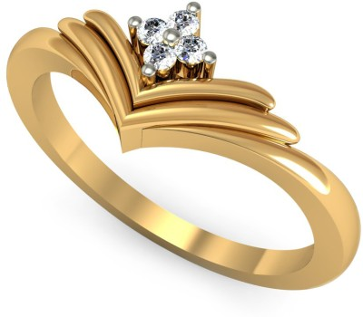 Rasav Jewels 14kt Diamond Yellow Gold ring at flipkart