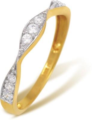 Ishtaa 18kt Cubic Zirconia Yellow Gold ring