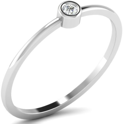 His & Her 18kt Diamond Yellow Gold ring(White Gold Plated) at flipkart