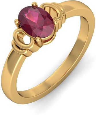 SMS Retail 8.25 Ratti Stone Ruby Copper Plated Ring at flipkart