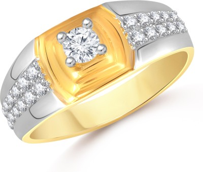 VK Jewels Dual Tone Alloy Cubic Zirconia 18K Yellow Gold Plated Ring