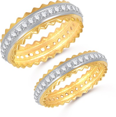 a7fd8dbaeb5 VK Jewels Proposal Wedding Couple Rings Alloy Cubic Zirconia 18K Yellow  Gold Plated Ring Set