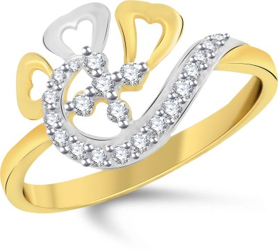 VK Jewels Attractive Flowe Alloy Cubic Zirconia 18K Yellow Gold Plated Ring  available at flipkart for Rs.290