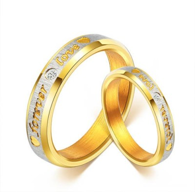 Yellow Chimes Stainless Steel Rhodium Plated Ring Set at flipkart