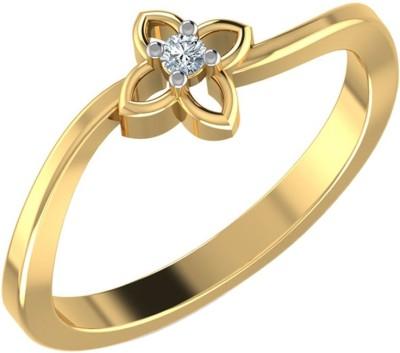 Kataria Jewellers The Karoly BIS Hallmarked Gold 14kt Diamond Yellow Gold ring