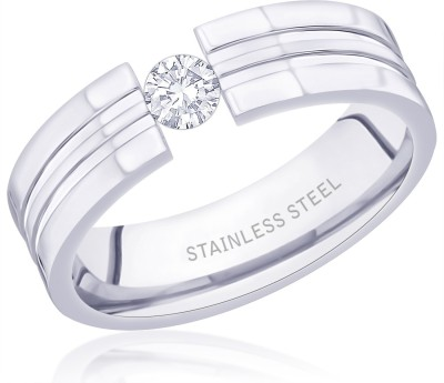 Peora Grooved Tension Stainless Steel Ring  available at flipkart for Rs.450