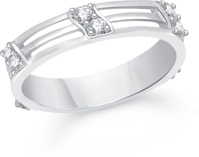 VK Jewels Reticular Alloy Cubic Zirconia Rhodium Plated Ring at flipkart