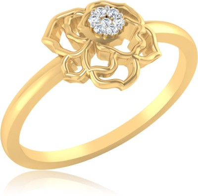 IskiUski Sparkling Rose 14kt Diamond Yellow Gold ring