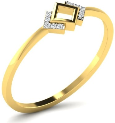 Fullcutdiamond FCDR7706R 18kt Diamond Yellow Gold ring(Yellow Gold Plated) at flipkart