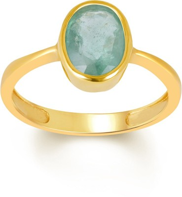 SMS Retail 9.25 Ratti Stone Emerald Copper Plated Ring at flipkart