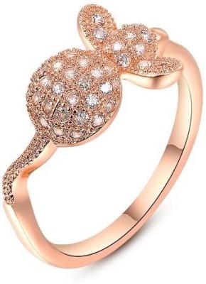 Carina Designer Turtle Crystal Swarovski Crystal 18K Rose Gold Plated Ring at flipkart
