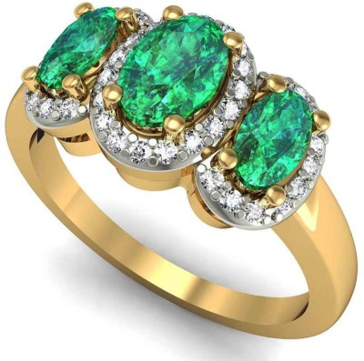 Rasav Jewels 18kt Diamond Yellow Gold ring at flipkart