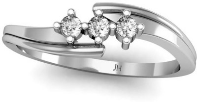 JewelHub 18k Hallmark & VS-G Diamond 18kt Yellow Gold ring at flipkart