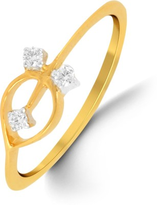 P.N.Gadgil Jewellers 18kt Diamond Yellow Gold ring(Yellow Gold Plated) at flipkart