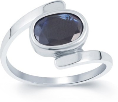 SMS Retail 5.25 Ratti Stone Sapphire Rose Gold Plated Ring at flipkart
