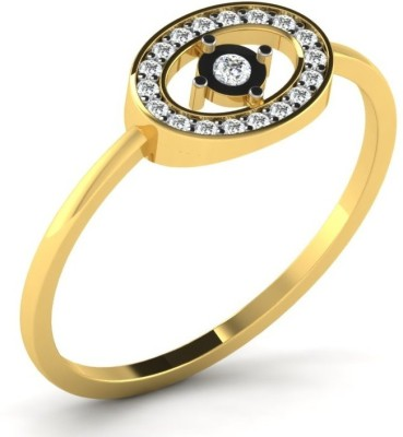 Fullcutdiamond FCDR7860R 18kt Diamond Yellow Gold ring(Yellow Gold Plated) at flipkart