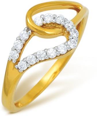 Nishtaa 22kt Cubic Zirconia Yellow Gold ring