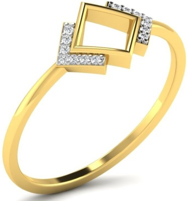 Fullcutdiamond FCDR7840R 18kt Diamond Yellow Gold ring(Yellow Gold Plated) at flipkart