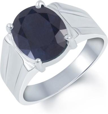 Kundali Neelam Stone Weight- 5.6 Carat / 6.59 Ratti Silver Sapphire Ring at flipkart
