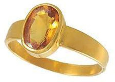 SMS Retail 10.25 Ratti Stone Sapphire Copper Plated Ring at flipkart