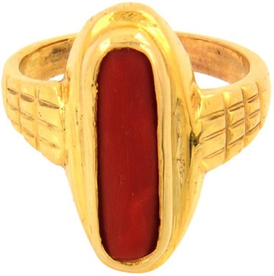 Avaatar 6.25 Ratti Panchdhatu Moonga Alloy Coral Ring at flipkart