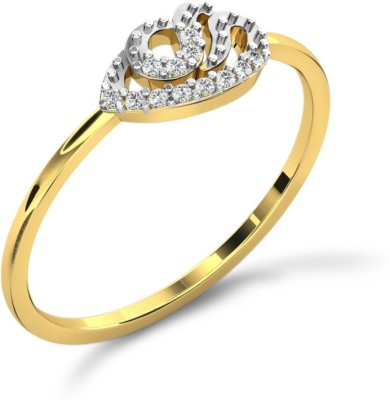 His & Her 18kt Diamond Yellow Gold ring(Yellow Gold Plated) at flipkart