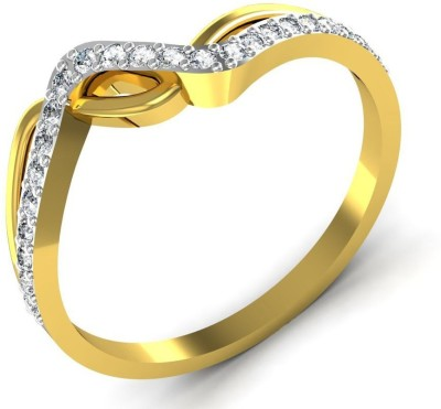Avsar Ranchi 18kt Diamond Yellow Gold ring at flipkart