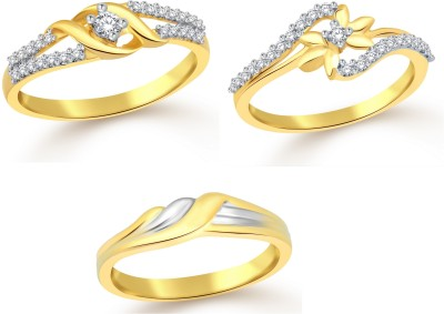Classic Gift Charm Combo for Women Alloy Cubic Zirconia Yellow Gold Plated Ring at flipkart