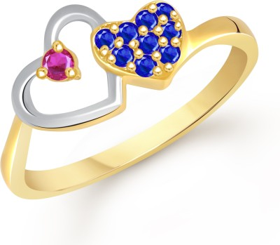 VK Jewels Shine of Love Heart Alloy Cubic Zirconia Gold-plated Plated Ring