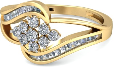 WearYourShine by PC Jewellers The Lydia 18kt Diamond Yellow Gold ring at flipkart
